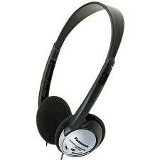 Panasonic Black and Silver Lightweight Headphones 16-22K Hz Neodymium 4.5'