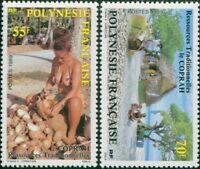 French Polynesia 1989 Sc#505-506,SG555-556 Copra Production set MLH