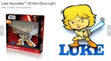 Ufficiale Star Wars Luke Skywalker 3D FX DECO MINI MURO CASA LED luce notturna