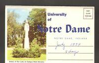 Used Postcard Souvenir Foldout Folder Views of University of Notre Dame Indiana