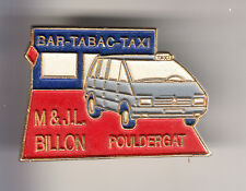 RARE BIG PINS PIN'S .. AUTO CAR TAXI CAB ESPACE RENAULT TABAC POULDERGAT 29 ~B8