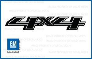 set of 2 - 2014 4x4 Decals - FBLK stickers Chevy Silverado Black Blackout Side