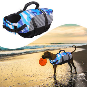 Swimming Aquatic Vest Safety Adjustable Clothes Puppy Coat Pet Dog Life Jacket
