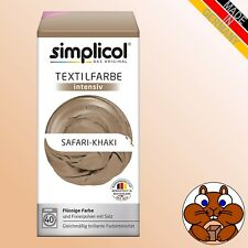 simplicol Textilfarbe intensiv SAFARI-KHAKI Wäsche Färben Batiken DIY