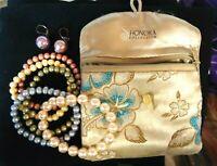 HONORA Freshwater Pearl Lot of 5 Bracelets Earrings Sage Coral Grey Ivory
