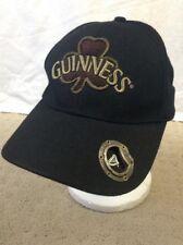 Guinness Beer Ireland Shamrock Black Strapback Hat Cap metal Bottle Opener