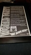 World Party Way Down Now Rare Original Radio Promo Poster Ad Framed! #2