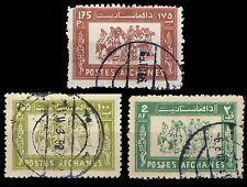 AFGHANISTAN - 1960/61 - Mi512 & 580/1 BUZKASHI (National Sport) - Obl./VFU
