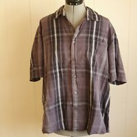 Myer Reserve Men's Size XXL Grey Short Sleeve Shirt C00576