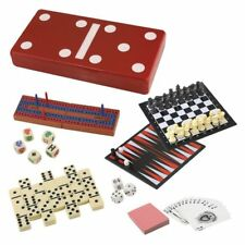 Yorkshire 7 in 1 Game Set Chess Checkers Dominoes Poker Dice Cards and More!