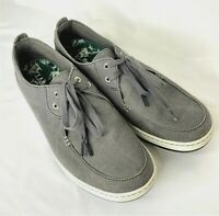 LL Bean Campside Oxford Shoes Mens Gray Size 13 Medium 2 Eye Canvas