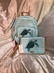 Vera Bradley Turtle Backpack & Matching Wristlet NWT