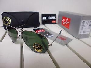 Ray-Ban Aviator Classic Rahmen Gunmetal RB 3025 W0879 Sonnenbrille Pilotenbrille