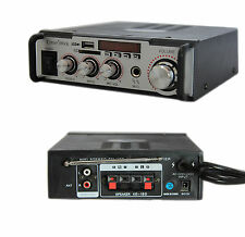 AMPLIFICATORE AUDIO 12V 220V USB SD MICROFONO MP3 FM CASA AUTO KARAOKE 004A