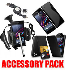 7 X ACCESSORY BUNDLE KIT FOR SONY XPERIA Z1 + CASE COVER CAR HOLDER CHARGER