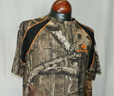 Mossy Oak Youth Small 6-7 Camo Short Sleeve T Shirt Scent Control Hunting Camp