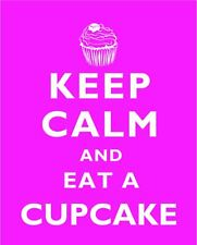NEW VINTAGE KEEP CALM CUPCAKE METAL WALL SIGN PLAQUE KITCHEN DINER CAFE
