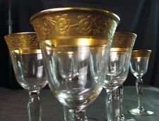 Vintage Gilt Trim Cordial Glasses 13 + 2