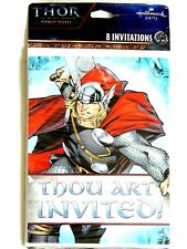NEW ~THOR THE MIGHTY AVENGER  8- INVITATIONS WITH ENVELOPES.-  PARTY SUPPLIES
