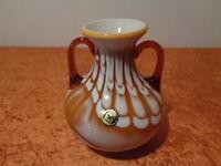 Old FS Glass Vase - Jugolslawien - around 1970 - Handmade - with Tag