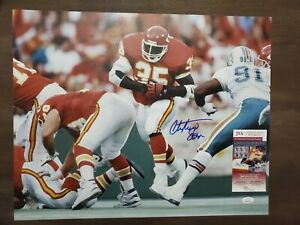 Christian Okoye autographed Kansas City Chiefs 16x20-JSA COA