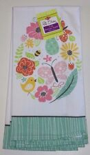 "Ritz Full Bloom 2 Kitchen Towels, Spring ""Botanical Egg"" New 100% Cotton"