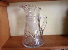 Beautiful large crystal fancy pitcher