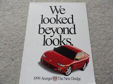 1999 Dodge Avenger Sales Brochure