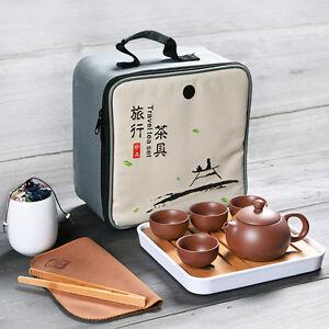 travelling tea set portable bag yixing zisha teaset tea plate reservoir tea tray