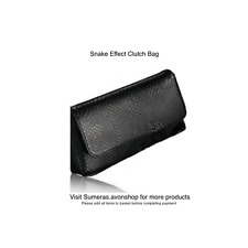 Avon Black Snake Effect Clutch Bag Chic Evening/Party Purse Gr8 Easter Day Gift