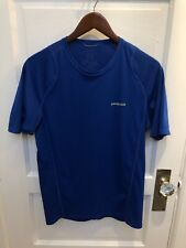 Mens Patagonia Blue Athletic Workout Hiking Shirt Medium M