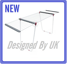 New * Design Deluxe Fordable Extendable Clothes Drying Rack Dryer Airer