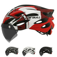 Ultralight MTB Bike Helmet Mountain Road Bicycle Helmet w/ Lens & brim taillight