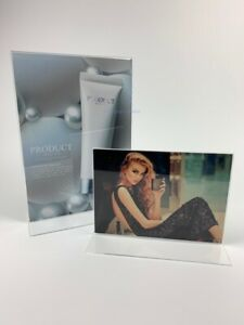 Freestanding Acrylic Poster Holder With Open Base A4 ect
