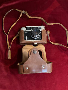 Vintage Russian FED 4 camera in leather case