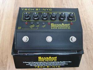 Tech 21 SansAmp NYC Programmable Bass Driver DI