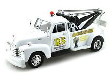 Welly 1/24 1953 Chevrolet Tow Truck 24hr RS Diecast Model Car White (22086)