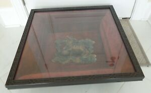 """RARE """"HANGING DON"""" BY JOHN RICHARD SHADOW BOX PICTURE FRAME CHINESE POTTERY"""