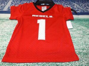 University of Nevada Las Vegas UNLV Rebels Football Jersey, Child's 2T, New