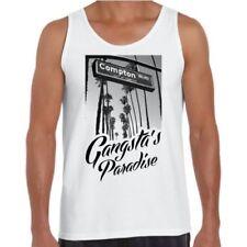 Hip Hop Regular Size Sleeveless T-Shirts for Men