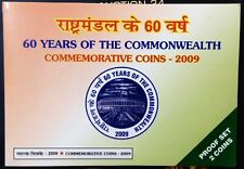 India Republic 2009: 60 years of Commonwealth Proof coins set of Rs. 100 & 10.