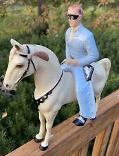 Vintage ca 1950's Hartland Lone Ranger Figure and Horse