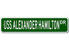 USS ALEXANDER HAMILTON SSBN 617 Ship Navy Sailor Metal Street Sign - Aluminum