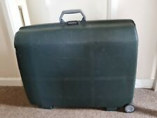 Vintage Large Samsonite Suitcase Hard Body Pull Along 2 Wheel Green Luggage