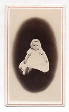 PHOTO CDV Carte de visite Bébé J. OMETZ Issoudun Indre Robe Baptême Vers 1870