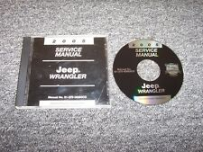 2005 Jeep Wrangler Shop Service Repair Manual DVD SE X Sport Unlimited Rubicon