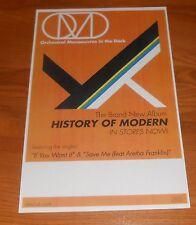 OMD History of Modern Poster Original Tour Promo 17x11