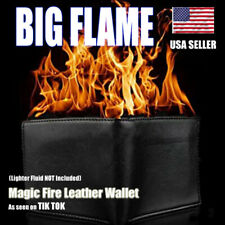 Magic Trick Fire Flaming Wallet Leather Street Show Demon Wallet ***PRE ORDER***