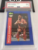 Hulk Hogan 1991 Classic Wwf Card #123 Psa 9 Low Pop
