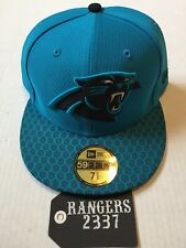 New Era NFL 17 Carolina Panthers 59FIFTY Side Line Fitted Hat Cap Size 7 5/8